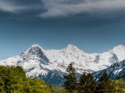 Eiger, Mönch und Jungfrau von Beatenberg aus