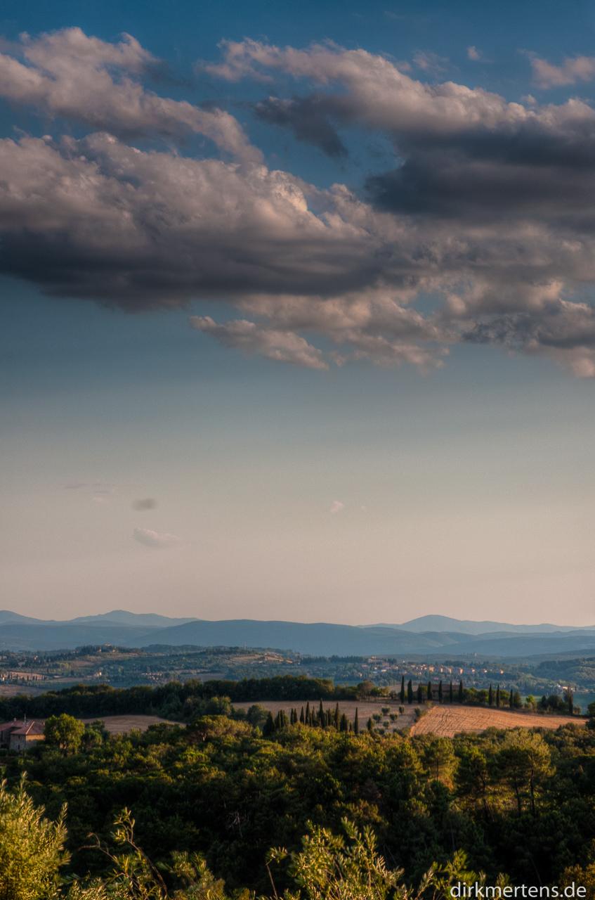 Blick Richtung Siena
