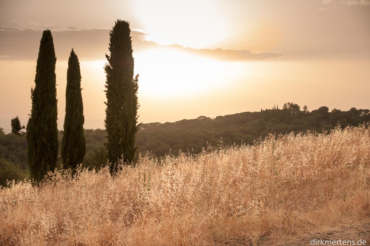 Sonnenuntergang bei Siena