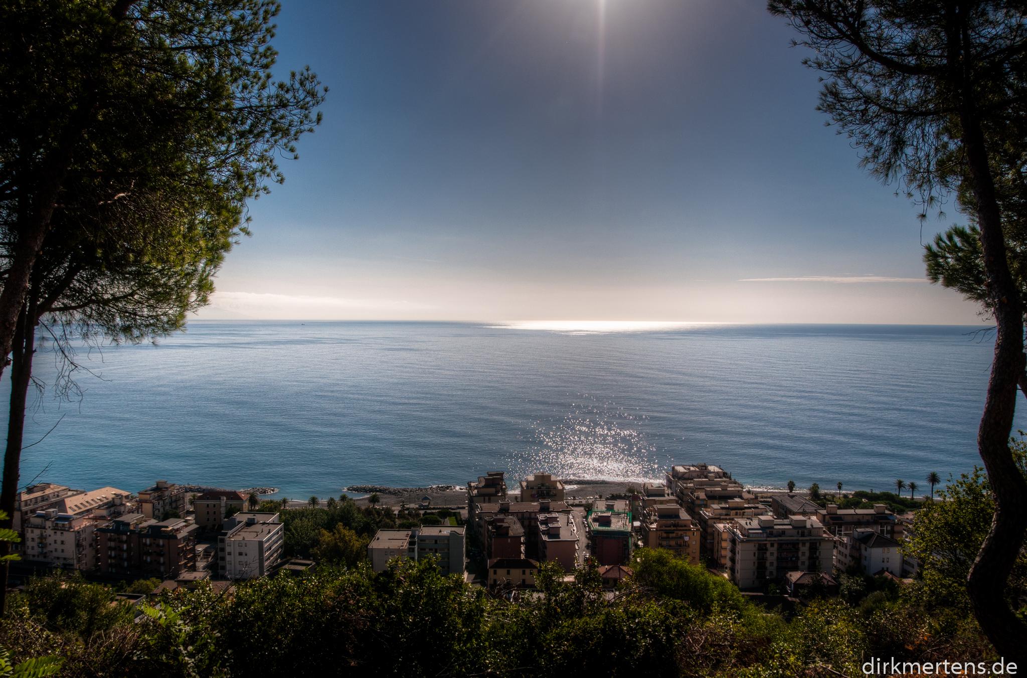 Cogoleto mit Blick aufs Meer