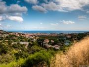 Blick aus dem Hinterland auf Spotorno