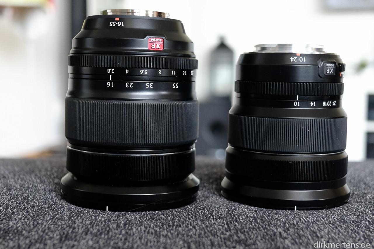 Fujinon XF16-55/f2,8 und Fujinon XF10-24/f4